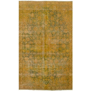 eCarpetGallery Persian Vogue Orange Wool Hand-knotted Rug (6'8x11'7)