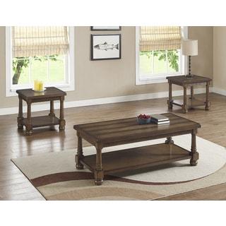 Bernards Manchester Brown Wood 3-piece Occasional Table Set