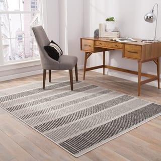 Felton Indoor/ Outdoor Stripe Gray/ Black Area Rug (2' X 3') https://ak1.ostkcdn.com/images/products/16106335/P22488618.jpg?impolicy=medium