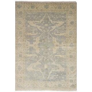 eCarpetGallery Royal Ushak Grey Wool Hand-knotted Rug (6' x 9')