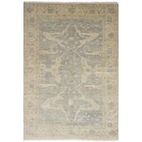 eCarpetGallery Royal Ushak Grey Wool Hand-knotted Rug (6' x 9')