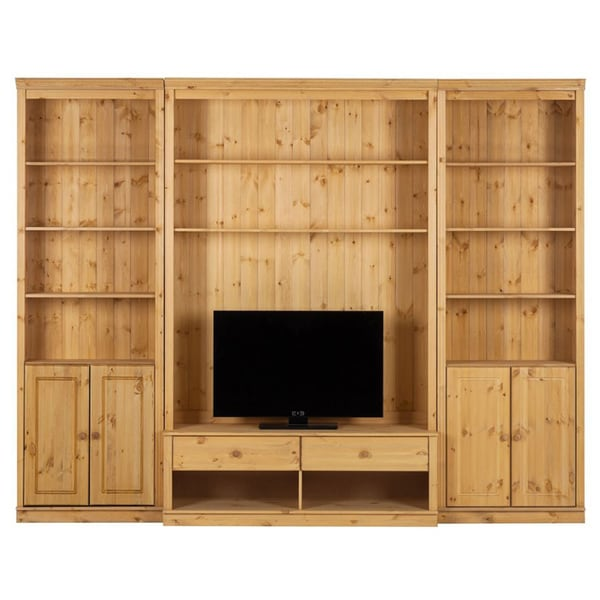 Shop Annabelle Natural Solid Pine 86 Inch Tall 6 Piece Tv