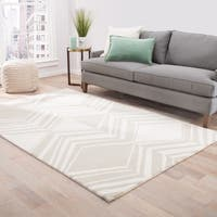 Brixton Handmade Abstract Cream/ Taupe Area Rug - 2' x 3'