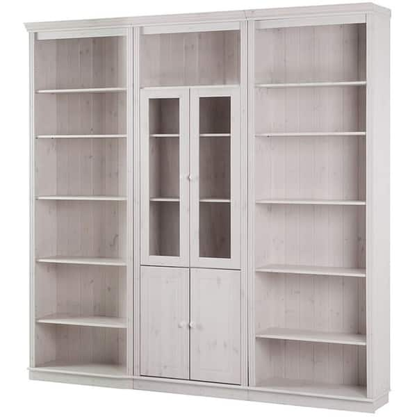 Shop Anita Solid Pine 86 Inch Tall 5 Piece Wall Unit Overstock