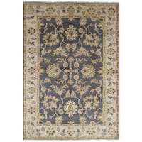 eCarpetGallery Hand-knotted Royal Ushak Grey Wool and Cotton Rug - 6'1 x 9'0