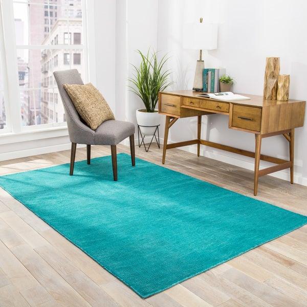 Shop Orleanna Indoor/Outdoor Solid Teal Area Rug (2' X 3