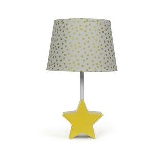 The Peanut Shell Star Bright Gold Confetti Lamp