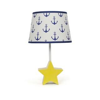 The Peanut Shell Star Bright Navy Anchors Lamp
