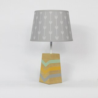 The Peanut Shell Sierra Grey Arrows Lamp