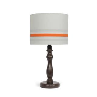 The Peanut Shell Espresso Orange Stripe Lamp