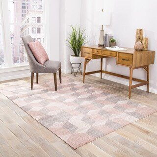 Malkin Indoor/Outdoor Geometric Gray/ Beige Area Rug - 2' x 3'