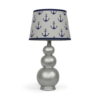 The Peanut Shell Lustrous Navy Anchors Lamp