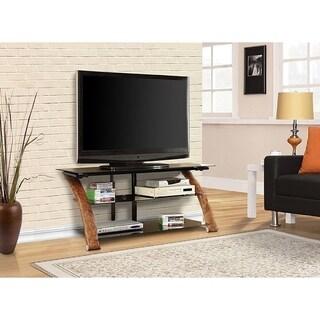 Fold 'N' Snap Nexus EZ Burl Wood 52-inch TV Stand