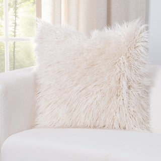 Siscovers Llama Cream Faux Fur Designer Throw Pillow
