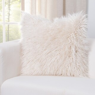 Siscovers Llama Cream Faux Fur Throw Pillow (2 options available)