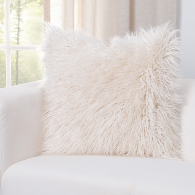 Siscovers Faux-Fur Designer Llama Throw Pillow