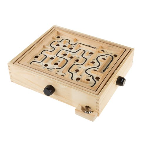 Hey! Play! Labyrinth Wooden Maze Game - Green