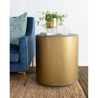 Salsbury Antique Gold Reclaimed Wood Side Table by Kosas Home