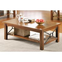 LYKE Home Avant Brown Wooden Coffee Table
