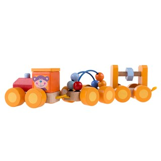 Hey! Play! Classic Wooden Interactive Learning Train Set - Multi