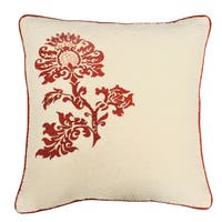 Cottie Red Cotton Decorative Throw Pillow
