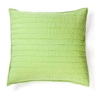 Cottage Home Brighton Apple Green Cotton 16 Inch Throw Pillow
