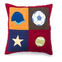 Sports Patchwork Decorative Throw Pillow