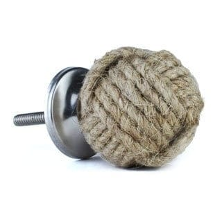 Natural Jute Knobs (Set of 2)