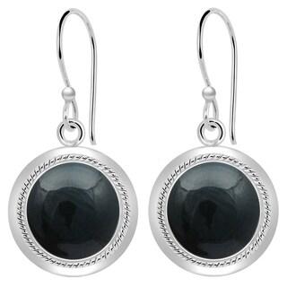 Orchid Jewelry 8 1/2 Carat Blood Stone 925 Sterling Silver Dangle Earrings