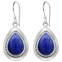 Orchid Jewelry Sterling Silver 10 1/2 Carat Lapis Lazuli Drop Earrings