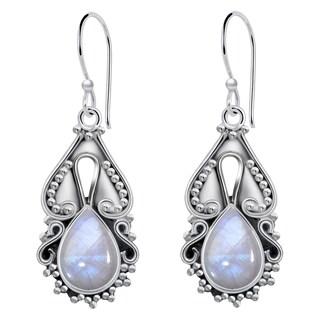 Orchid Jewelry 4 Carat Rainbow 925 Sterling Silver Dangle Hook Earrings