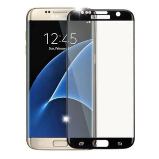Insten Black Clear Tempered Glass Screen Protector For Samsung Galaxy S7 Edge