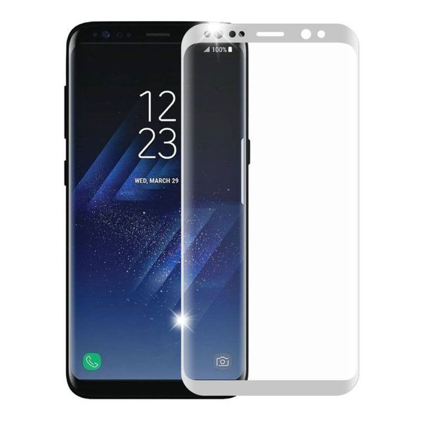 buy popular 76ea7 537e8 Insten Silver Clear Tempered Glass Screen Protector For Samsung Galaxy S8  Plus