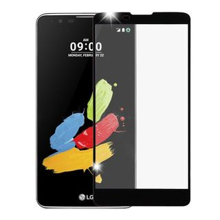 Insten Black Clear Tempered Glass Screen Protector For LG Stylus 2