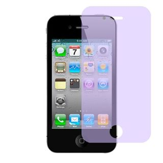 Insten Clear Screen Protector For Apple iPhone 4/4S, Purple