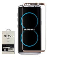 Insten Clear Tempered Glass Screen Protector For Samsung Galaxy S8, Gold