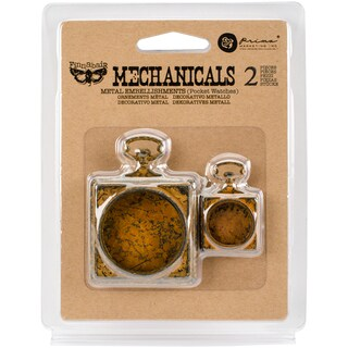 Finnabair Mechanicals Metal Embellishments-Pocket Watches 2/Pkg