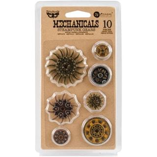 Finnabair Mechanicals Metal Embellishments-Steampunk Gears 10/Pkg