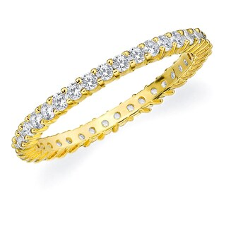 Amore 10K Yellow Gold 0.50 CTTW Eternity Shared Prong Diamond Wedding Band