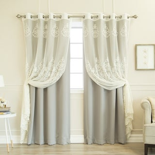 Aurora Home Agatha Sheer and Blackout Curtain Set