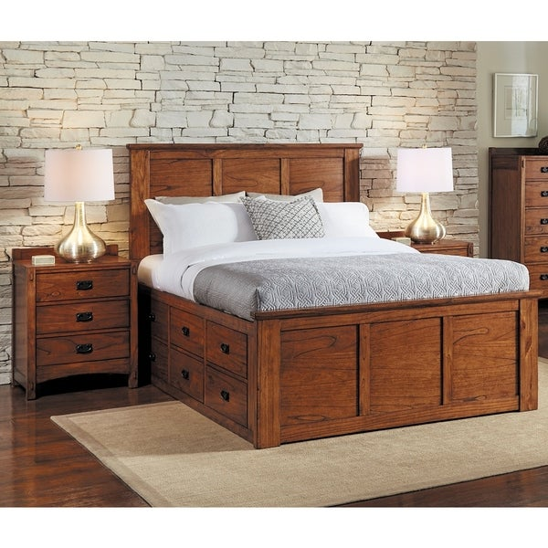 Shop Aira 3 piece Solid Wood King Storage Bedroom Set   Free