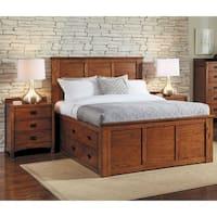 Aira 3-piece Solid Wood Queen Storage Bedroom Set