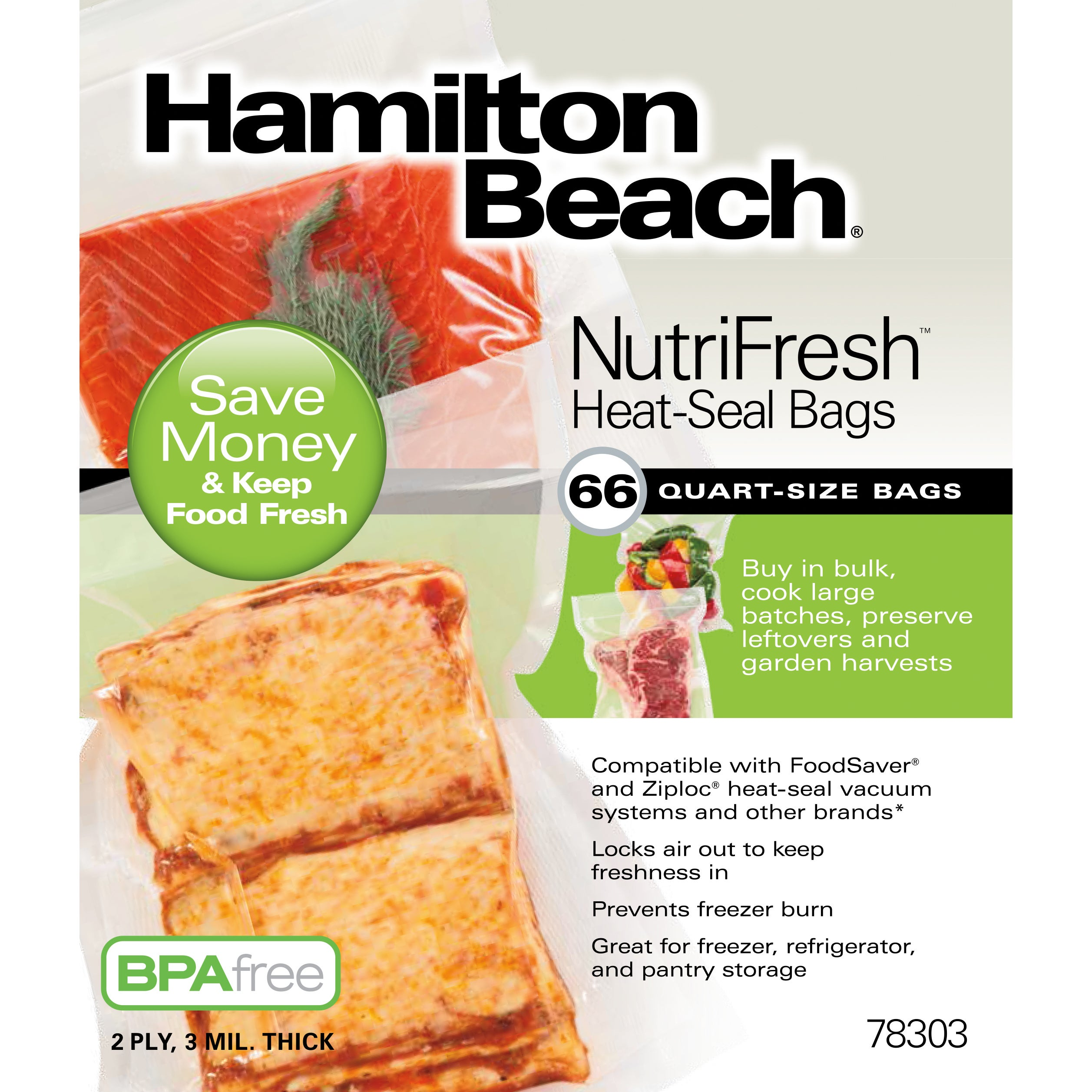 Hamilton Beach NutriFresh 66 ct. Heat-Seal Bags (Hamilton...