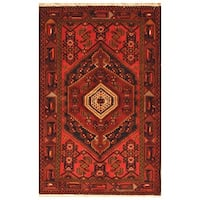 Herat Oriental Persian Hand-knotted Tribal Balouchi Wool Rug (4'6 x 6'11)