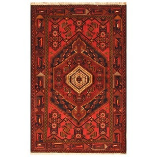 Herat Oriental Persian Hand-knotted Tribal Balouchi Wool Rug (4'6 x 6'11)