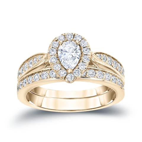 4028aecaefcb3 Halo, Pear Engagement Rings   Shop Online at Overstock