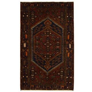 Herat Oriental Persian Hand-knotted Tribal Balouchi Wool Rug (4' x 6'3)