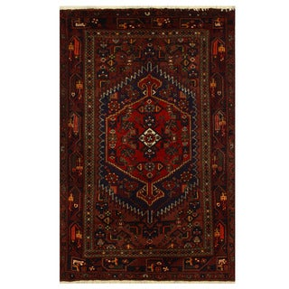 Herat Oriental Persian Hand-knotted Tribal Balouchi Wool Rug (4'3 x 6'4)