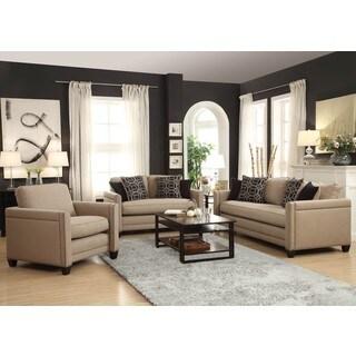 Contemporary Design Living Room Sofa Collection with Decorative Nailhead Trim