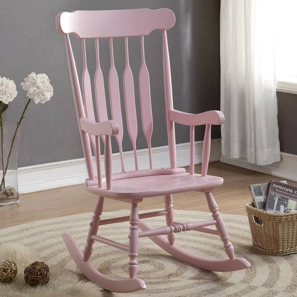 Shop Windsor Arrow Back Country Style Pink Rocking Chair